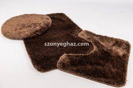 Shaggy csoki vajpuha 3 részes fürdőszoba szőnyeg 50x80cm