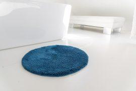 Shaggy királykék Vajpuha 80 cm kerek Szőnyeg és fürdőszoba szőnyeg