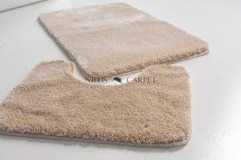 Shaggy beige vajpuha 2 részes fürdőszoba szőnyeg 50x80cm
