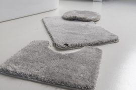 Shaggy szürke vajpuha 3 részes fürdőszoba szőnyeg 50x80cm