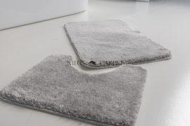 Shaggy szürke vajpuha 2 részes fürdőszoba szőnyeg 50x80cm