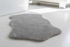 Shaggy szürke vajpuha állat mintás 67x110cm szőnyeg