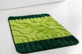 Fürdőszoba szőnyeg 1 részes zöld amőba