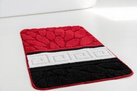 Fürdőszoba szőnyeg 1 részes black red stone 50x80cm