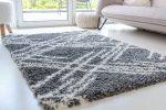 Berber Luxury 5040 antracit (szürke) szőnyeg 40x70cm