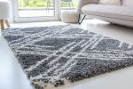 Berber Luxury 5040 antracit (szürke) szőnyeg 60x200cm