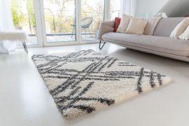 Morocco Shaggy 5040 (antracit-cream) szőnyeg 80x150cm Szürke-Krém