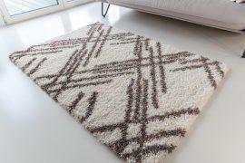 Morocco Shaggy 5040 (brown-cream) szőnyeg 200x290cm Barna-Krém