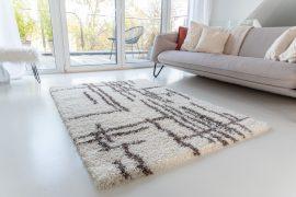 Morocco Shaggy 8708 (brown-cream) szőnyeg 80x150cm Barna-Krém