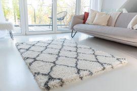 Morocco Shaggy 9327 (antracit-cream) szőnyeg 80x150cm Szürke-Krém