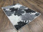 Belépő szőnyeg gumis aljjal szürke tavaszi levelek 50x80cm