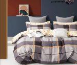 Charlotte flanel kockás szürke ágynemű garnitura 7 részes