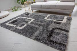 Design Shaggy kockás gray (szürke) szőnyeg 60x220cm