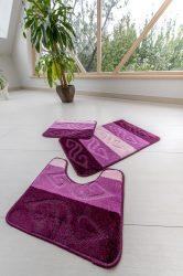 Fürdőszobaszőnyeg 3 részes Teljes lila indás