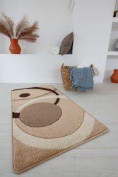 London nagy karikás karamell szőnyeg 80x150cm