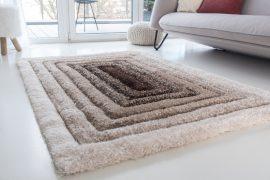 Piramis Shaggy (beige) 5cm 3D szőnyeg 60x220cm Bézs