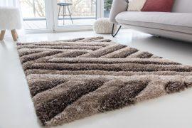 Kairó Shaggy (vizon) 5cm 3D szőnyeg 160x220cm Barna