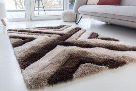 Dubai Shaggy (vizon) 5cm 3D szőnyeg 60x220cm Barna