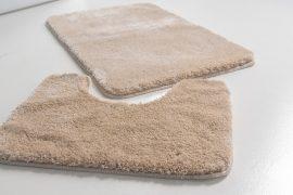 Powder shaggy vajpuha beige (bézs) 2 részes 50x80cm fürdőszobaszőnyeg