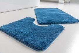 Powder shaggy vajpuha blue (királykék) 2 részes 50x80cm fürdőszobaszőnyeg