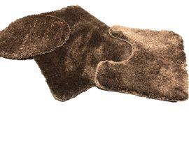 Powder shaggy vajpuha chocholate 3 részes 50x80cm fürdőszobaszőnyeg