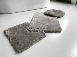 Powder shaggy vajpuha gray (szürke) 3 részes 50x80cm fürdőszobaszőnyeg