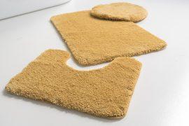 Powder shaggy vajpuha mustár 3 részes 50x80cm fürdőszobaszőnyeg