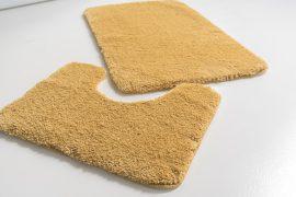 Powder shaggy vajpuha mustár 2 részes 50x80cm fürdőszobaszőnyeg