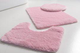 Powder shaggy vajpuha puder pink 3 részes 50x80cm fürdőszobaszőnyeg