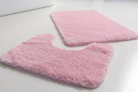 Powder shaggy vajpuha puder pink 2 részes 50x80cm fürdőszobaszőnyeg