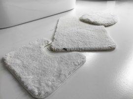 Powder shaggy vajpuha white (fehér) 3 részes 50x80cm fürdőszobaszőnyeg