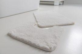 Powder shaggy vajpuha white (fehér) 2 részes 50x80cm fürdőszobaszőnyeg