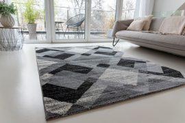 Elegance Super Soft 1009 gray-black (szürke-fekete) szőnyeg 160x220cm