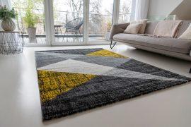 Elegance Super Soft 1178 yellow-gray (sárga-szürke) szőnyeg 240x330cm