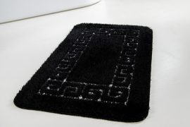 Fürdőszoba Suba szőnyeg 50x80cm 1 részes fekete görög mintás