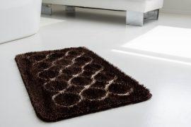Fürdőszoba Suba szőnyeg 50x80cm 1 részes barna mintás