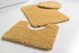 Shaggy mustár Vajpuha 3 részes fürdőszoba szőnyeg 50x80cm