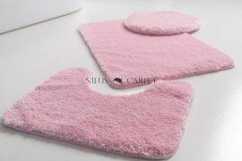 Shaggy puder pink Vajpuha 3 részes fürdőszoba szőnyeg 50x80cm