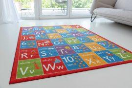 Gyerek szőnyeg piros ABC 130x180cm
