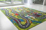 Gyerek szőnyeg zöld szervíz 130x180cm