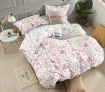 Karácsonyi 3 részes ágynemű garnitura fehér piros mintás