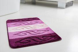 Fürdőszobaszőnyeg lila indás 50x80cm