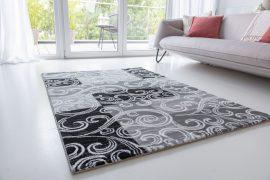 Italy art Luxury 5206 black white (fekete-fehér) szőnyeg 80x150cm