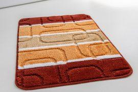 Rectangle Retro kockas narancs 1 részes fürdőszobaszőnyeg 50x80cm