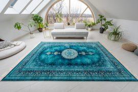Exkluzív Perzsa Art Mandalay Aqva Blue (kék-zöld) szőnyeg 300x400cm