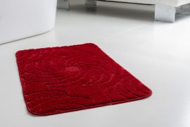 Fürdőszoba szőnyeg Asmin piros indás 50x80cm