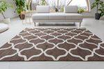 Premium Hali 3879 white-l.brown (fehér-barna) szőnyeg 60x110cm