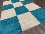 Shaggy 5cm 0052 türkízkék szőnyeg 200x290cm