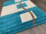 Shaggy 5cm 0072 türkízkék szőnyeg 200x290cm