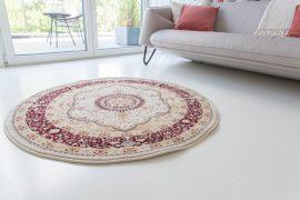 Super sultan 3028 cream beige (krém-bézs) szőnyeg 120cm Kerek